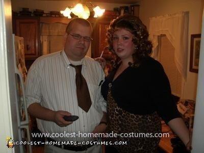 Homemade Peg and Al Bundy Couple Costume