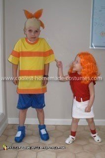 Coolest Phineas and Candace Flynn Kid's Couple Costume