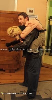 Homemade Piggy Back Illusion Costume