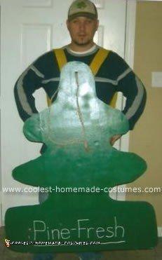 Homemade Pine Fresh Air Freshener Costume