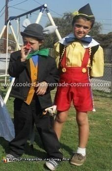 Homemade Pinocchio and Lampwick Couple Costume