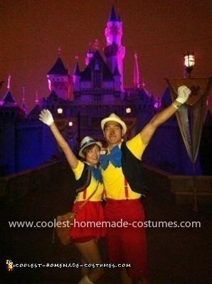 Homemade Pinocchio Couple Costume