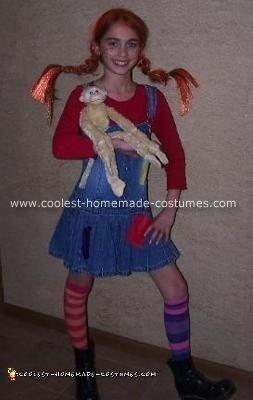 Homemade Pippi Longstockings Halloween Costume