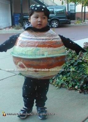 Homemade Planet Jupiter DIY Costume with Skinny Ring