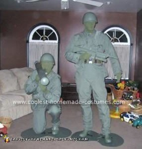 Homemade Plastic Army Men Halloween Costumes