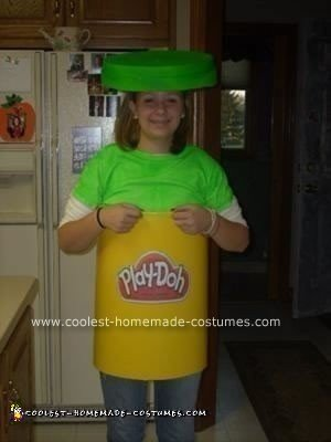 Homemade Play-Doh Costume