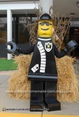Homemade Police Officer Lego Man Costume
