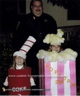Homemade Popcorn and Coke Costumes