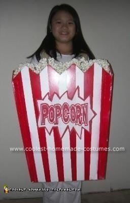 Homemade Popcorn Halloween Costume