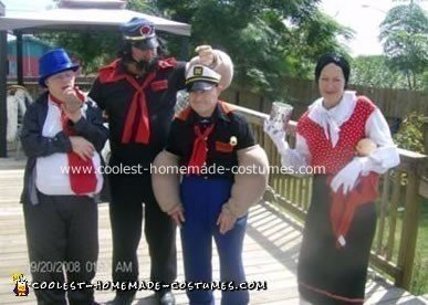 Popeye and Crew Costume