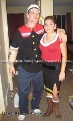 Cool Popeye And Olive Oyl Costume