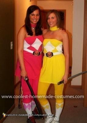 Homemade Power Rangers Woman's Couple Costume