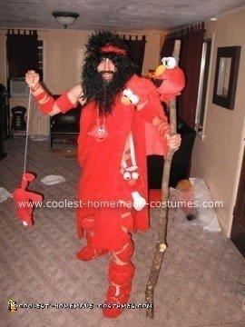 Homemade Pre-Historic Elmo Slayer Costume