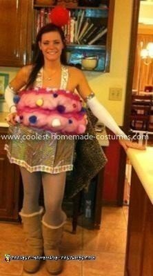 Coolest Pretty Pink Homemade Cupcake Costume (with cherry headpiece!)