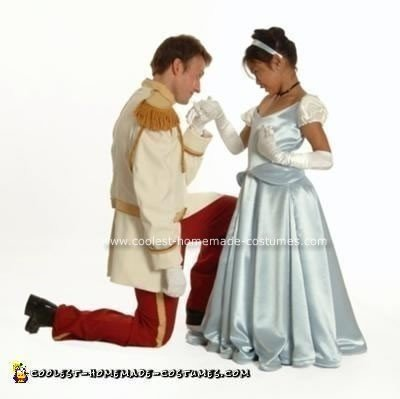 Homemade Prince Charming and Cinderella Costume