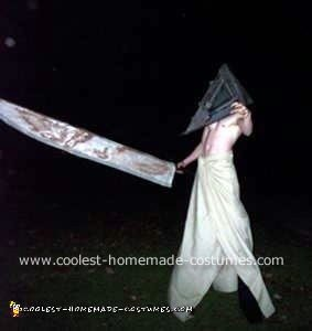 Homemade Pyramid Head Costume