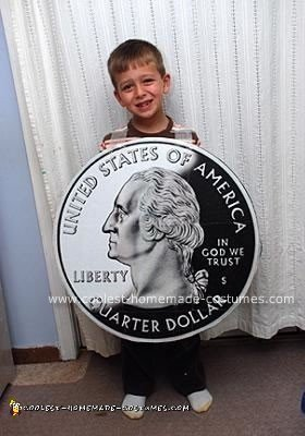 Homemade Quarter Coin Costume