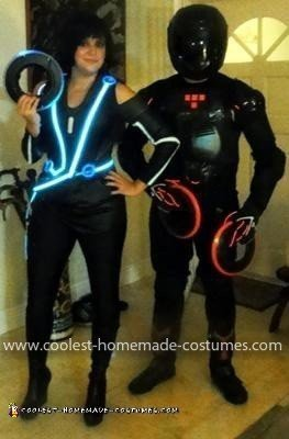 Homemade Quorra and Rinzler Tron Legacy Couple Costume