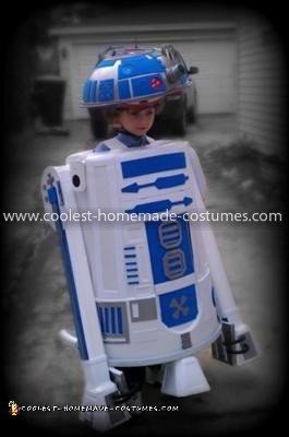 Homemade R2D2 Halloween Costume