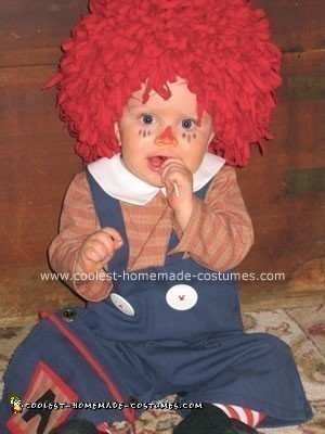 Homemade Raggedy Andy Halloween Costume