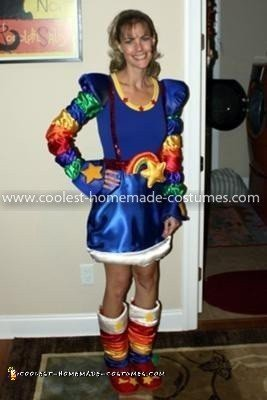Homemade Rainbow Brite Costume