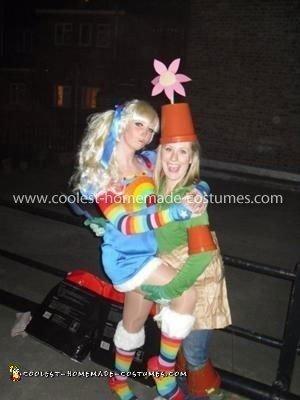 Homemade Rainbow Brite Fancy Dress Costume