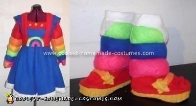 Rainbow Brite Homemade Halloween Costume