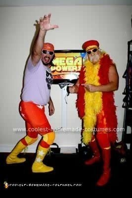 "Homemade Randy ""Macho Man"" Savage and ""Hulk Hogan"" Couple Costume"