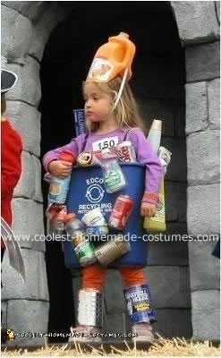 Homemade Recycling Bin Costume