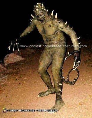 Homemade Reptile Man Costume