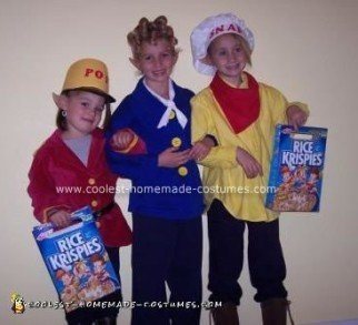 Homemade Rice Krispies Group Costume