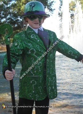 Homemade Riddler DIY Child Halloween Costume Idea
