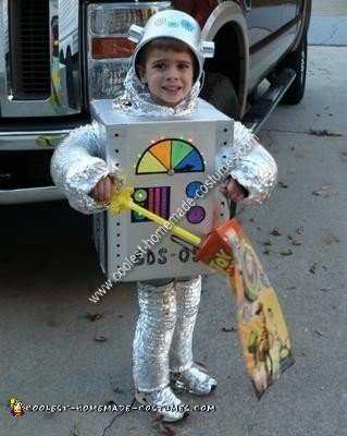 Homemade Robot Unique Halloween Costume Idea