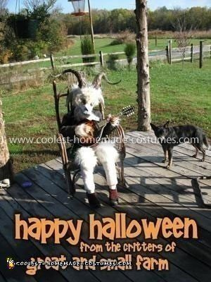 Coolest Rock-A-Billy Goat Costume