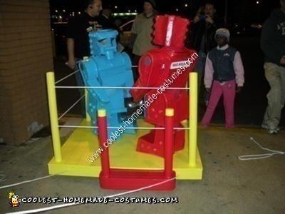 Rock'em Sock'em Robots DIY Couple Halloween Costume Idea