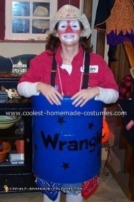 Rodeo Clown Costume with Barrel