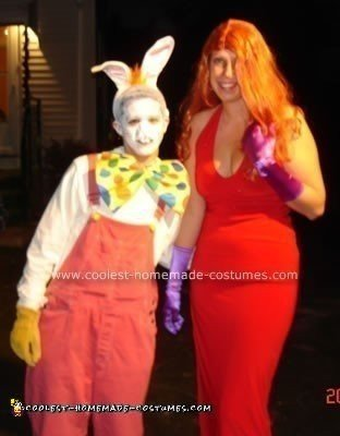 Homemade Roger Rabbit and Jessica Rabbit Costumes