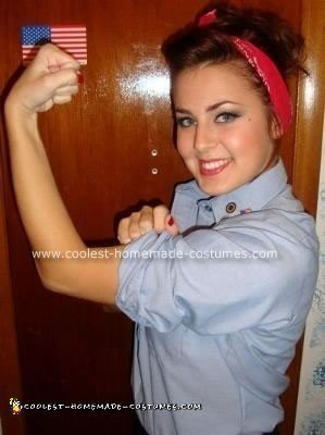 Awesome Homemade Rosie the Riveter Costume – You Can Do It!