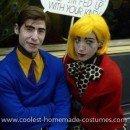 Homemade Roy Lichenstein's Pop Art Couple Costume