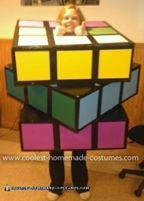 Homemade Rubiks Cube Costume