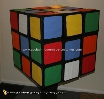 Homemade Rubik's Cube Halloween Costume