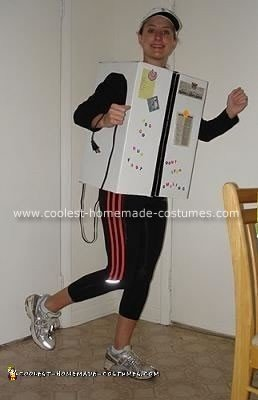 Homemade Running Refrigerator Halloween Costume