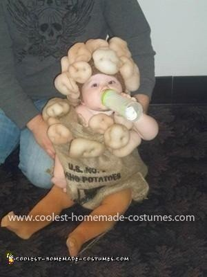Homemade Sack of Taters Baby Costume