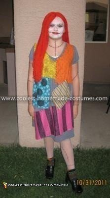 Homemade Sally from Nightmare Before Christmas Costume