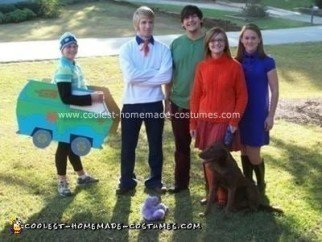 Homemade Scooby Doo Gang Group Costume