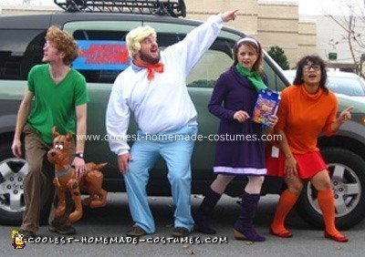 Homemade Scooby Doo Group Costume