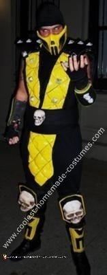 Homemade Scorpion from Mortal Kombat Costume