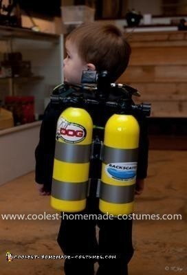 Homemade Scuba Diver Costume
