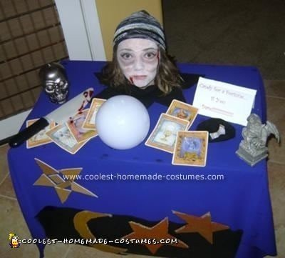 Homemade Severed Head Fortune Teller Costume