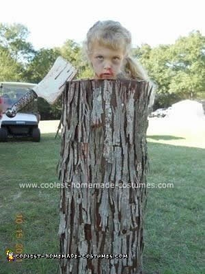 Homemade  Severed Head on a Tree Trunk Costume